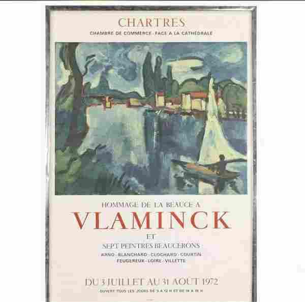 Vlaminck Exhibition Poster 1972 Hommage De La Beauce
