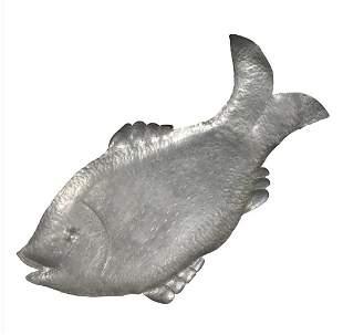 Savo Finn, Norwegian, Hand Hammered Aluminum Fish Tray