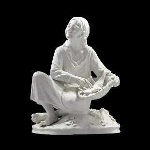 Dresden Western Germany Porcelain Figure Bowl of Fish