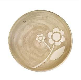 """Mid-Century Modern Art Pottery """"Flower"""" Center Bowl"""