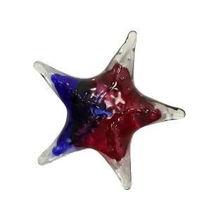 Signed Studio Art Glass Starfish Asteroid Sculpture