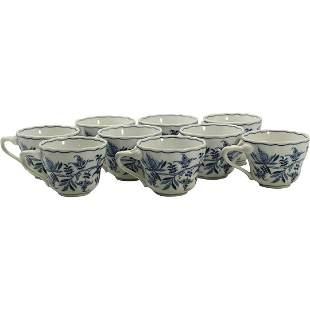 """[9] Nine """"Blue Danube"""" Porcelain Cups"""