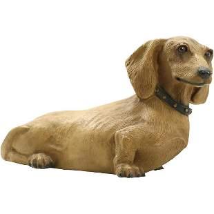 Ceramic Dachshund Dog Figure by Universal Statuary