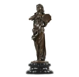 W Franc, Bronze Gypsy Woman with Tambourine Statue