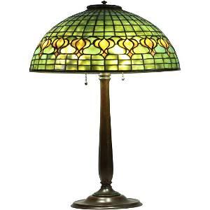 Tiffany Studios NY Pomegrante Lamp Signed Shade & Base