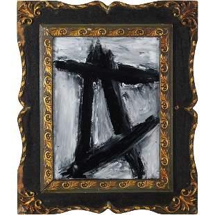 Pulgini after Franz Kline, Oil/c Black Lines on White
