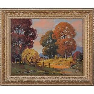 Ernest Fredericks 1877-1959, Oil/c Autumn Landscape
