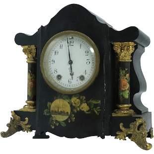Seth Thomas Fancy Black Mantle Clock Pat'd Sept 7 1880