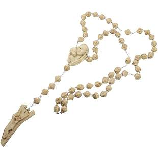 Unique Carved Rosary Beads Made in Italy
