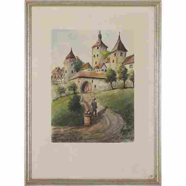 R Ludwig, German W/c Castle Rothenburg Kobolzeller Tor