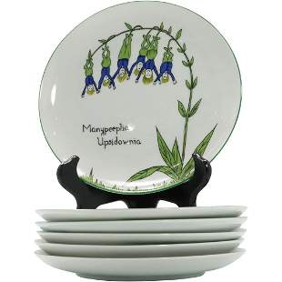 """[6] Taste Setter by Sigma """"Nonsense"""" Luncheon Plates"""