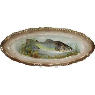 C T Germany Antique Porcelain Fish Platter