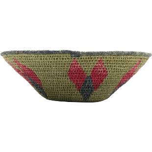 Quality Zuni Woven Bowl, Decorated