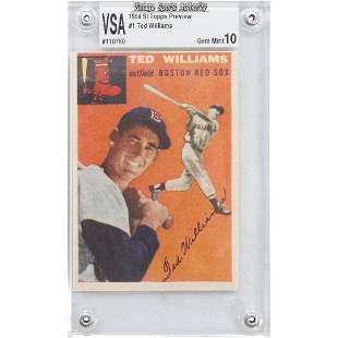 1954 Topps #1 Ted Williams Baseball Card Graded Gem 10.