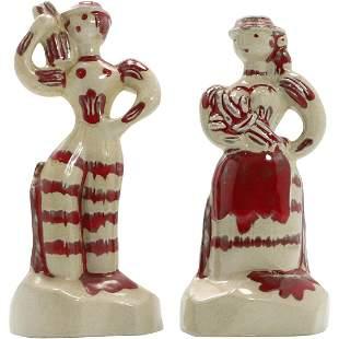 Cleminsons California Pottery Figural Salt & Pepper