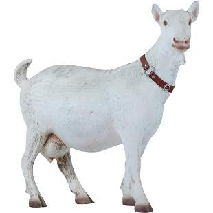 22 inch Garden Goat Figure Statue in Resin Composition