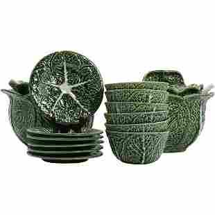 14 Cabbage Ceramic Bowls ALVARO JOSE Portugal Caldas