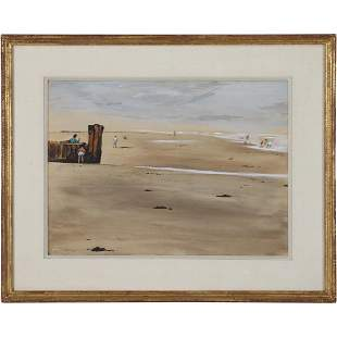 Walter Stuempfig; American Watercolor Signed