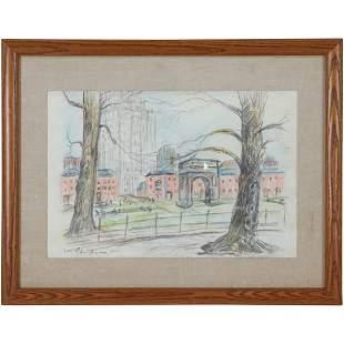 William Glackens(after); American Drawing Washington Sq