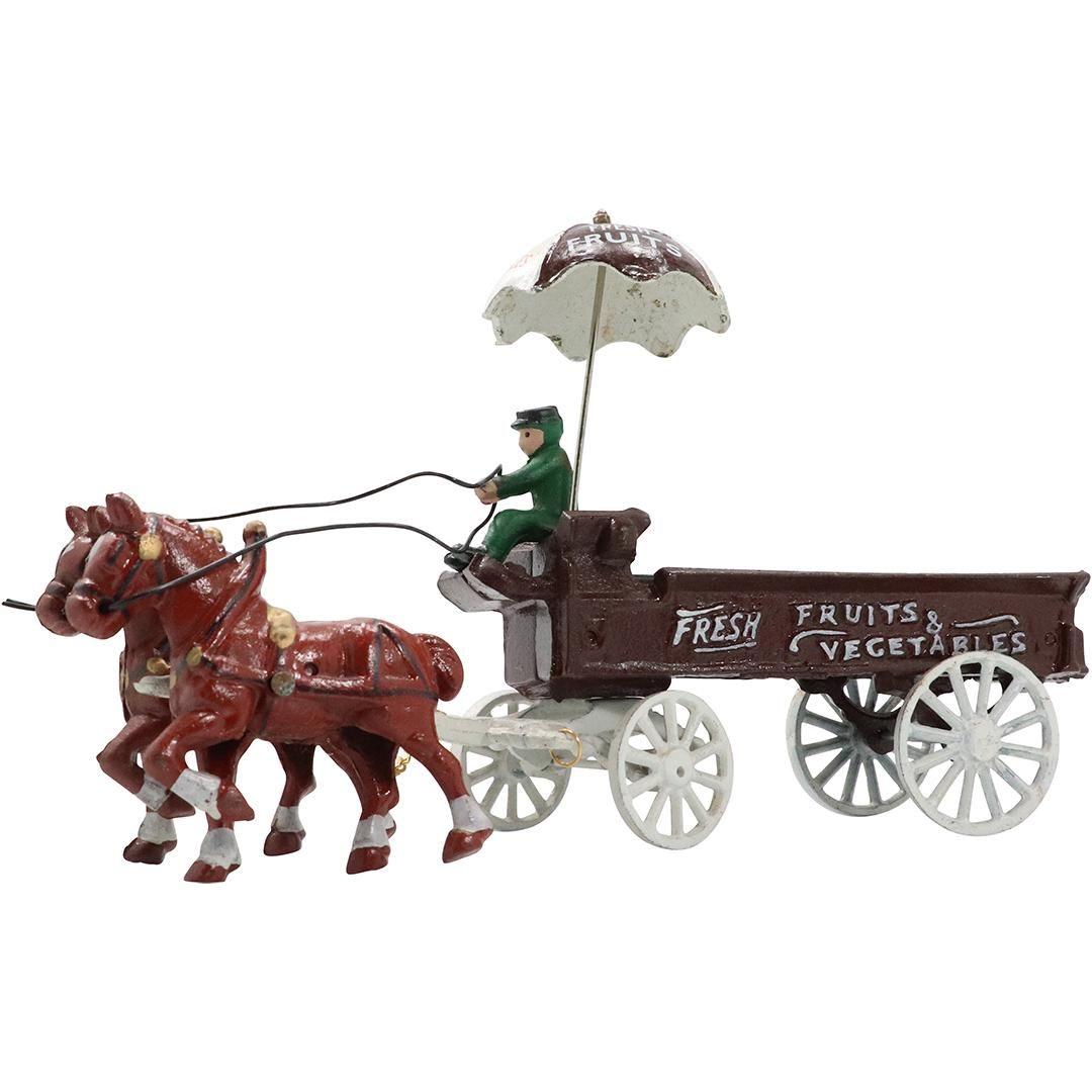 Novelty Cast Iron Toy Fruits & Vegetables Wagon