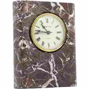 Rose Marble Mantle Clock German Movement