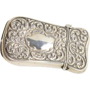 Sterling Silver Fancy Victorian Match Safe Case