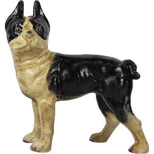 Cast Iron Bull Terrier Dog Figure Doorstop