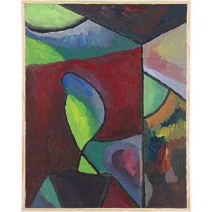 Herman Zuker, b. 1959 Polish / American, Abstract Oil/c