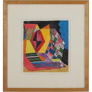 Rolph Scarlett 1889-1984, Geometric Abstract Gouache