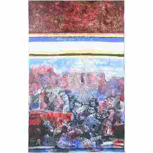 Susan Reingold, Oil Painting Large Colorful Abstract