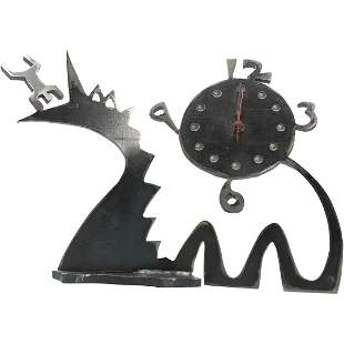Keith Haring Style Metal Pop Art Clock