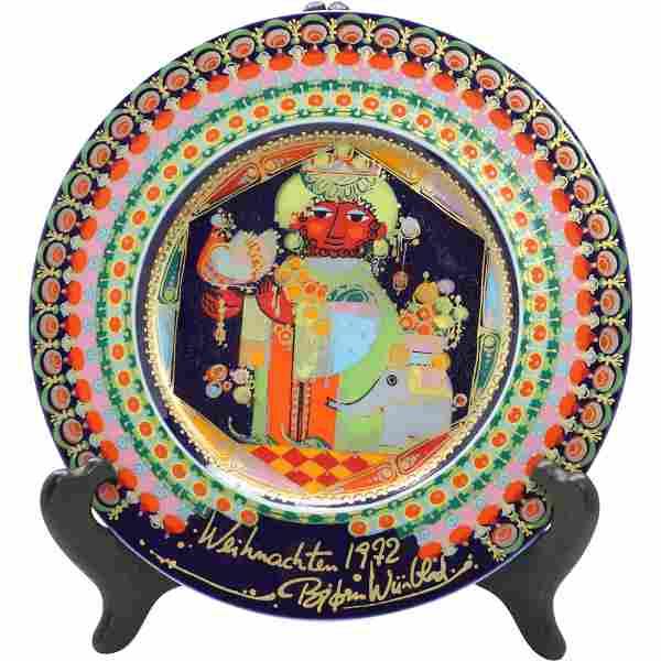 Bjorn Wiinblad Rosenthal Studio Plate Holy King Caspar