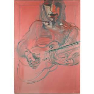 J McWhorter, Oil Painting 1980s Guitarist Jeff Beck