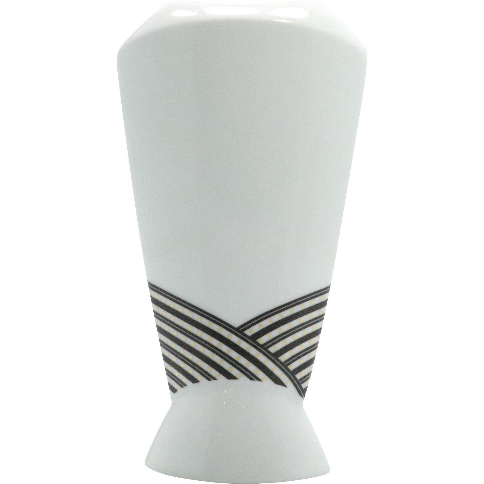 Rosenthal Studio Line White and Black Gold Dotted Vase