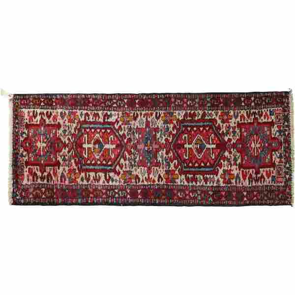 Antique Persian Oriental Hand Made Wool Runner Rug
