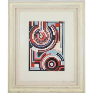 Frantisek Kupka, Mid-Century Circles Abstract ,Signed