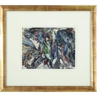 Asger Jorn, NY / Denmark Mid-Century Abstract Painting