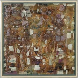 Coroas 1971, Mid-Century Modern Abstract Painting