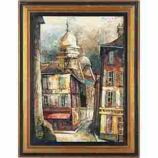 Jose Daroca 1964, Spanish b 1932 O/c City Street Scene