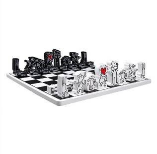 KEITH HARING Chess Set Jeu D'Echek, Vilac, in Orig. Box