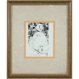 Marc Chagall Portrait Upside Down Head Lithograph