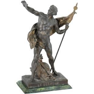 Emile Picault, Antique Spelter Statue of Le Serment