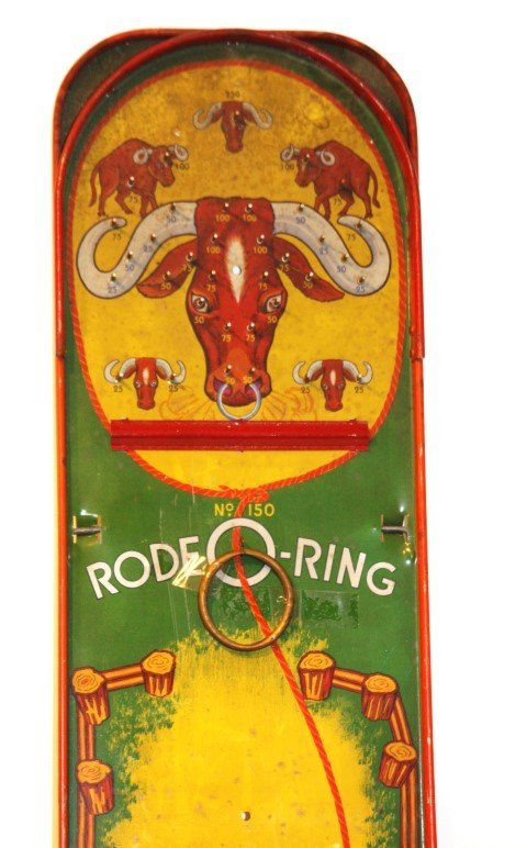 RODEO-RING Tin Game by WOLVERINE SUPPLY & MFG. CO - 2