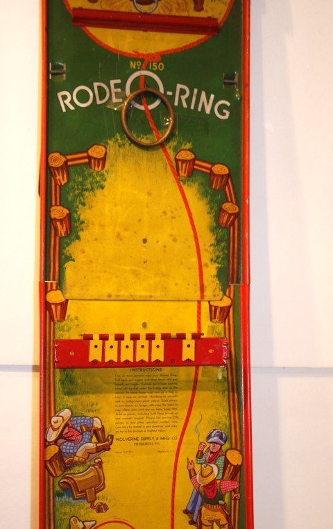 RODEO-RING Tin Game by WOLVERINE SUPPLY & MFG. CO - 6