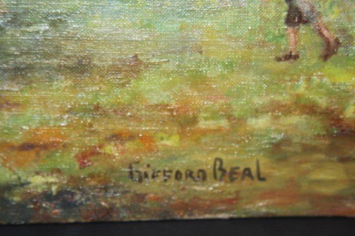 GIFFORD BEAL, 1879-1956 , oil/b, CHURCH BAZAAR - 3
