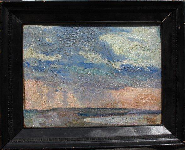 Connecticut watercolor artists directory - L F Dorn 1926 Listed Ct Artist Impressionism Seascape