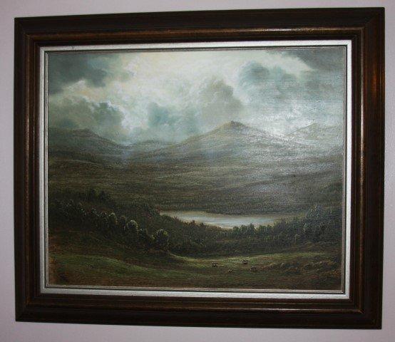 PHILIP LEKKI, oil, Hudson River valley painting