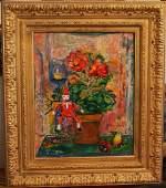 JEHUDITH SOBEL, b. 1924, o/c, Floral Still Life