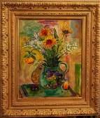 JEHUDITH SOBEL, b. 1924, o/c, Still Life Flowers