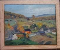 LOUISE KAMP 1867-1959, o/b Catskill Mountains Landscape